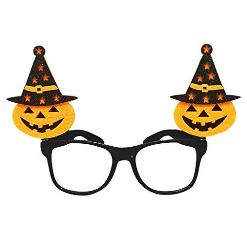 Tandou Halloween Brille, Kürbisschläger, Geist, Tricky Eyewear Party Kostüm Streich-Requisiten Spaß g