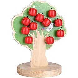 Zerodis Magnetischen Apfelbaum Holz Math Puzzle Pädagogisches Spielzeug Früherziehung für Kinder Kleinkinder