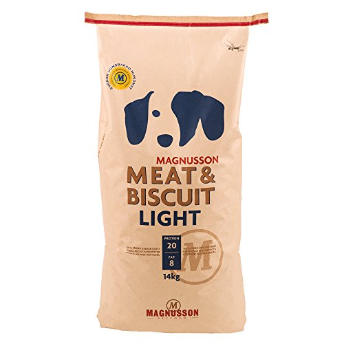 Magnusson Meat & Biscuit Light, 1er Pack (1 x 14 kg) (Lucky-pet-tags)