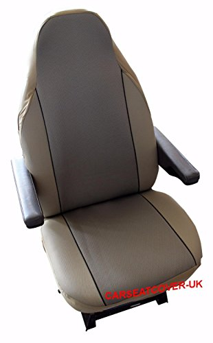 Peugeot Boxer - Pair of Luxury MOTORHOME Seat Covers [CHOICE OF 8 FABRICS]