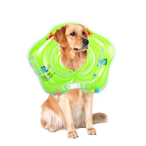 (Balock Schuhe Haustier-Hundeschwimmring-Ring-Kinderschwimmer,Kleinkind Kinder Schwimmender Schwimmen Ring Aufblasbarer Baby Schwimmring,Aufblasbarer Schwimmen-Schlauch-Trainer für Poolbad (Grün))