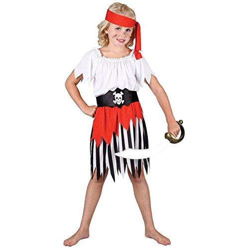 Seeräuber Piratin Verkleidung für Mädchen Fasching Karneval Halloween Kostüm M