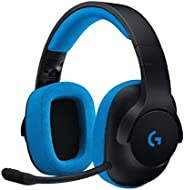 Logitech G233 Prodigy Wired Gaming Headset, Black/Blue