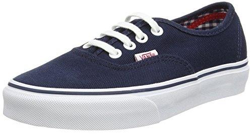 Vans Authentic, Sneakers mixte adulte Bleu (Twill & Gingham/Dress Blues/True White)