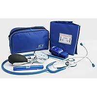 Azul claro y aumento de medición de tensión arterial aneroide de control del, estetoscopio de
