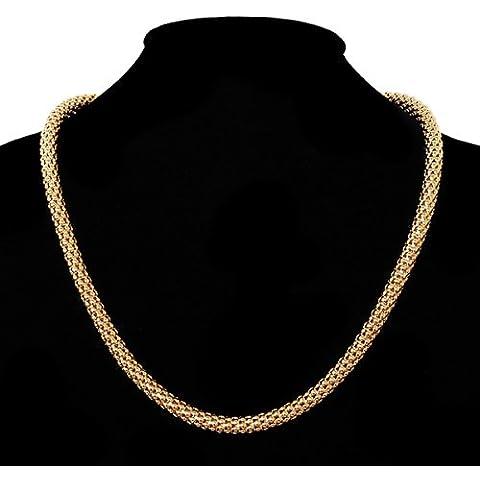 45,72 cm palomitas Collar de cadena chapado en oro con bolsas 45,72 cm