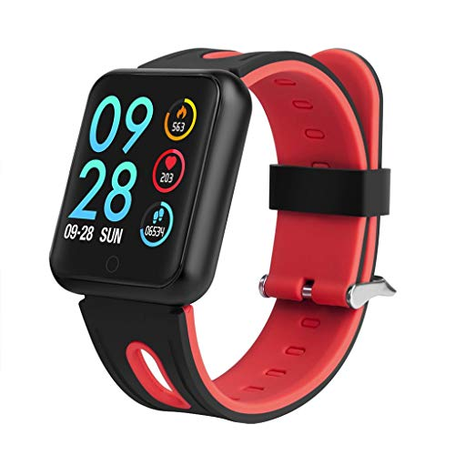 LRWEY Fitness Armband mit Pulsmesser, Farbbildschirm Bluetooth Smart Watch IP68 wasserdicht Herzfrequenz Blutdruckmessgerät Fitness Tracker Armband, für iOS Android