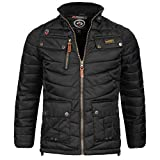 Herren Jacke Steppjacke Winterjacke Geographical Norway schwarz L