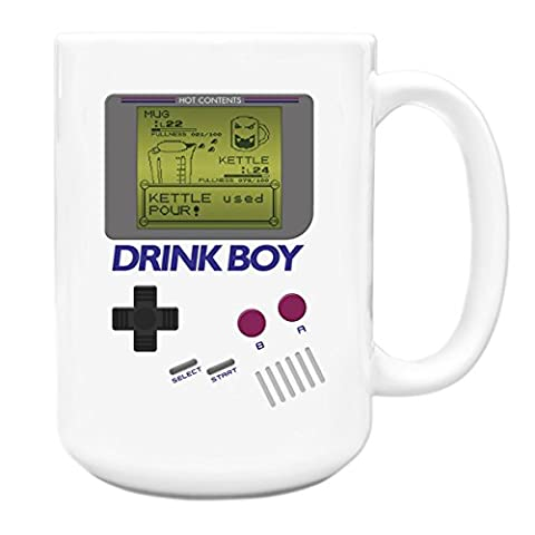 Drink Boy games console parody kettle tea funny 90s 15oz