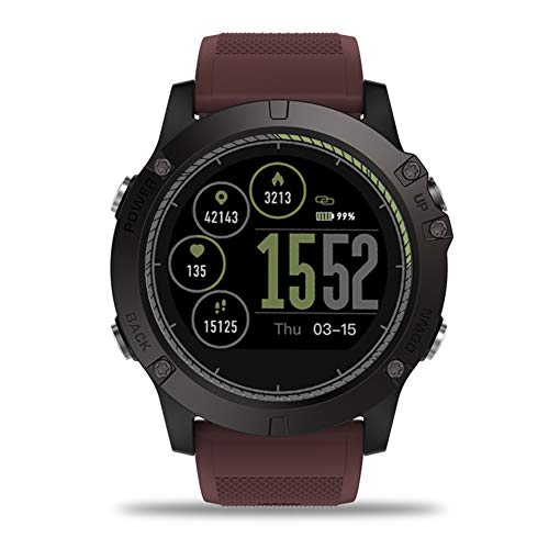 JINRU Smart Watch Herzfrequenzüberwachung 5ATM Wasserdichten Herzfrequenz-Monitor-Sport-Pedometer Schlaf-Überwachung,Red