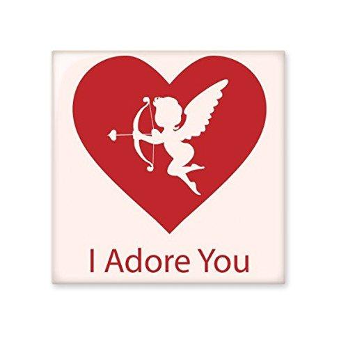 DIYthinker Valentinstag ich verehre Sie rotes Herz-Rosa Engel Pfeil Illustration Muster Keramik Bisque Fliesen für Dekorieren Badezimmer-Dekor Küche Keramische Fliesen Wandfliesen L -