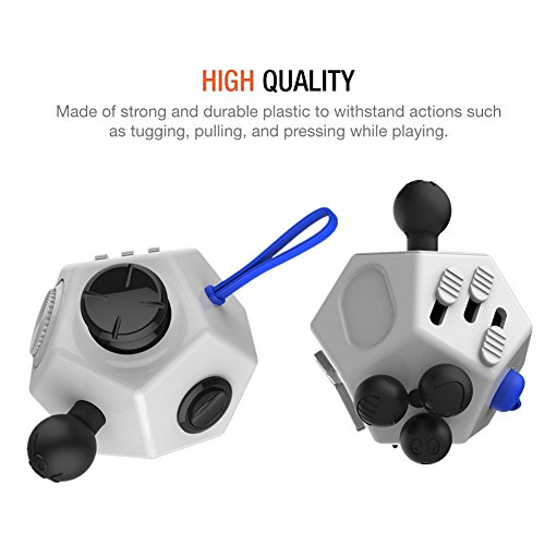 Fidget Toy Cube Relieves Stress and Anxiety for Children and Adults (Dice II – White) - 6
