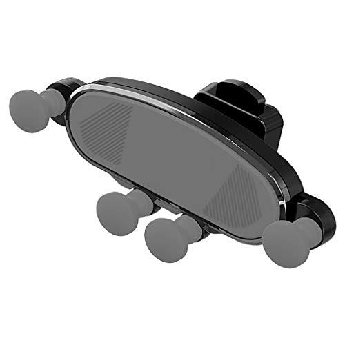 TIREOW Schwerkraft Klammer Auto Telefon Halter Air Vent Mount Ständer GPS Music Player Ständer für Samsung S9 (Schwarz) Garmin Air Vent Mount