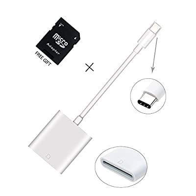 USB C to SD Card Camera Reader Adapter, Trail Game Camera Card Viewer Reader for Android Phone & Tablet (with Type-C and OTG Function)- Compatible with Late 2016 MacBook Pro and MacBook Retina