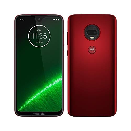 Motorola Moto G7 Plus - Smartphone Android 9 (pantalla 6.2'' FHD+ Max Vision, cámara trasera 16MP con estabilizador, cámara selfie 12MP, 4GB RAM, 64 GB, Dual SIM), color rojo [Versión española]