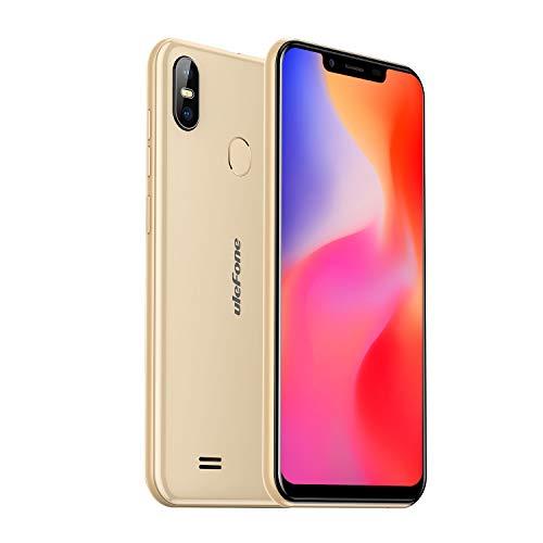 Ulefone S10 Pro Dual SIM 4G Smartphone ohne Vertrag (5,7 Zoll 3 Kartenfächer, 2GB RAM 16 GB Speicher, 16MP+8MP Dual Kamera, OTG Fingerabdruck Face Unlock, Dual SIM Android 8.1 Handy) Gold -