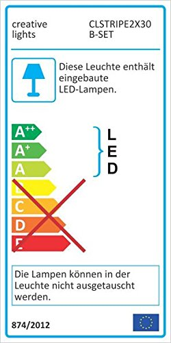 CREATIVE LIGHTS - AQUARIUM MONDLICHT 2 x 30 CM LED LICHTLEISTE + DIMMER KOMPLETTSET INKL. NETZTEIL FLEXI-SLIM BLAU - 5