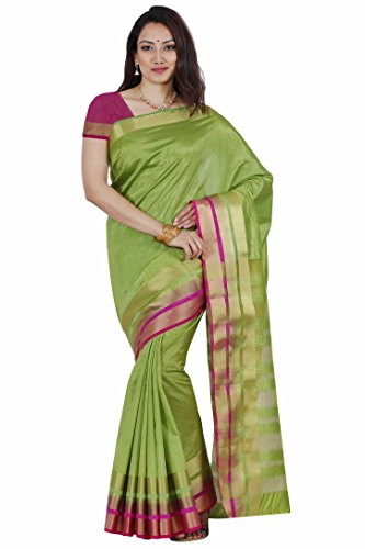 Mimosa Tassar Silk Saree (2069-Olv-Rni_Olive)  available at amazon for Rs.899