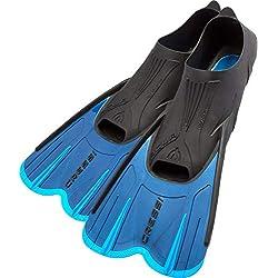 Cressi Agua Short Palmes Courtes pour Natation et Snorkeling Mixte Adulte, Bleu, 31/32