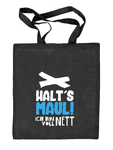 Shirtstreet24, Voll Nett, Natur Stoffbeutel Jute Tasche (ONE SIZE) schwarz natur
