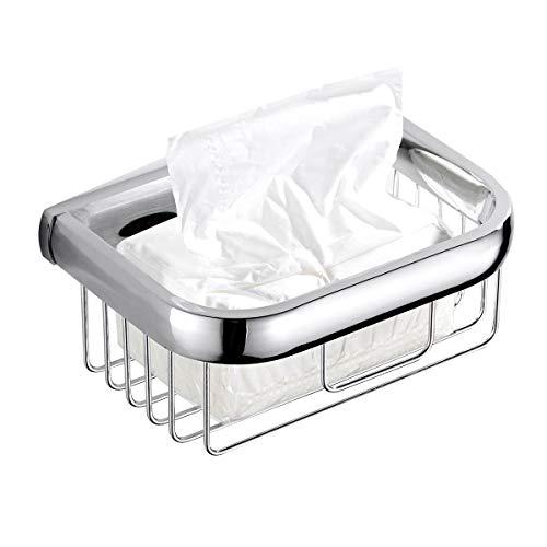 Flybath Toilettenpapierhalter Tissue Halter Badezimmer Messing Dusche Caddy Regal Platz WC-papierhalter Duschregal Körbe Organizer Wand montiert Helles silbernes Chrom-Ende Wc-caddy