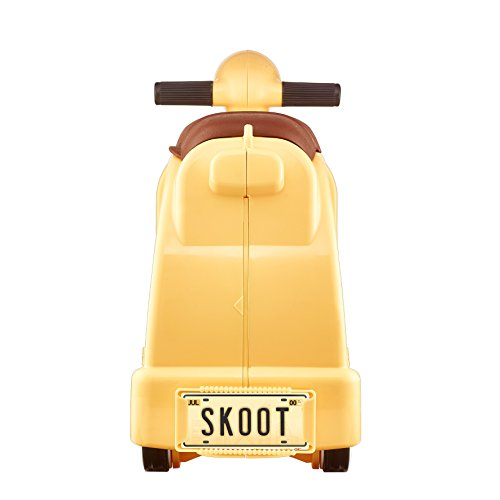 Skoot Kids' Ride-On Suitcase Children's Luggage, Lemon Yellow