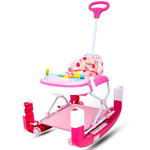 Baybee Flying Spur 3 in 1 Baby Walker Cum Rocker, Stopper with Adjustable Height (Pink)