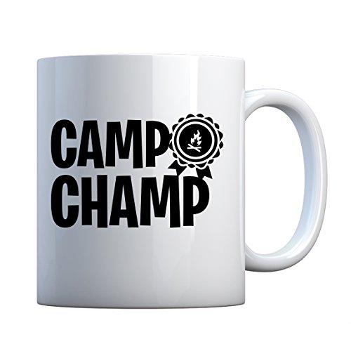 Indica Plateau du Champ de camp en céramique Mug cadeau 11oz blanc nacré