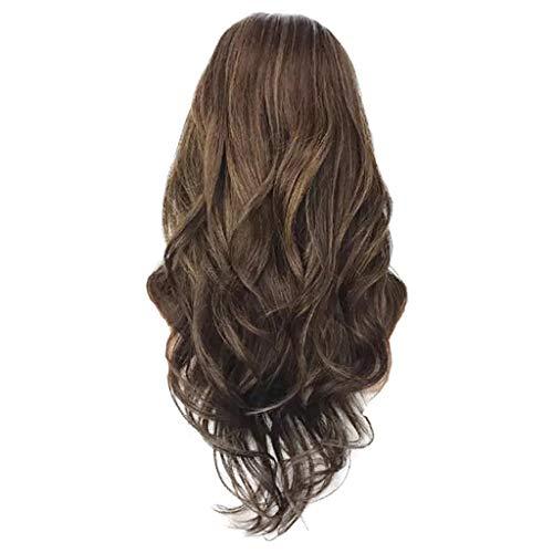 Nourich Frauen Mädchen lebendige Perücken, Echthaar, blond, braun, lange wellig, Kunsthaar, kein schlechter Geruch, Perückenkopf für Frauen