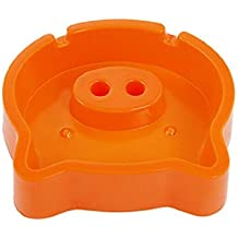 Water & Wood Home Office Decor Orange Plastic Cigar Cigarette Pig Style Ashtray