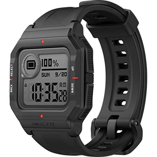 Oferta de Amazfit Neo Smart Watch Reloj Inteligente 28 Días Batería 5 ATM Sensor Seguimiento Biológico Frecuencia Cardíaca iOS & Android Negro
