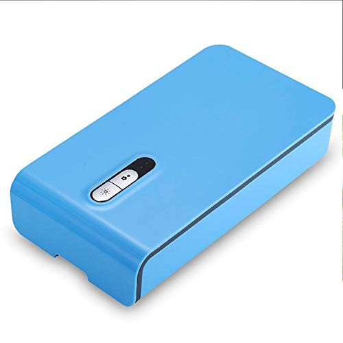 I BIMS-LICHT Portable LED-UV-Sterilisator, USB Sterilisator, Handy Wiederaufladbare, Aroma Diffuser, für Handy, Schnuller, Zahnbürste, Make Up Pinsel, Unterhose (Blau) -