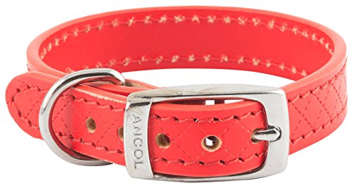 Ancol Heritage Hundehalsband, Diamant, X-Small/Medium/Large/Small, Tan/Schwarz/Braun/Rot -