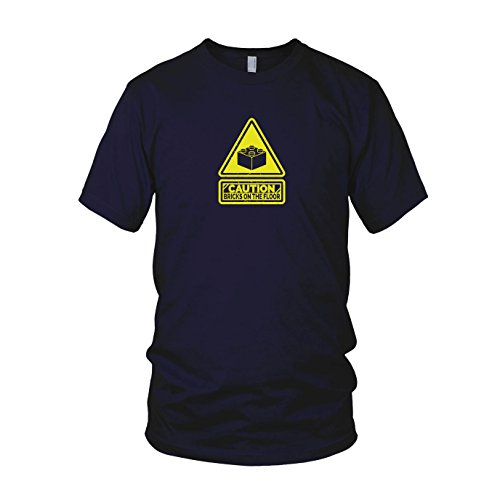 Caution: Bricks on the Floor - Herren T-Shirt Dunkelblau