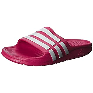 adidas Duramo Slide, Unisex Kids' Beach & Pool Shoes, Vivid Berry/Running White FTW/Vivid Berry, 2 UK (34 EU)