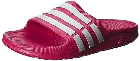 Adidas Duramo Slide K, Chaussures de Plage & Piscine Fille - Rose (vivid Berry S14/running White Ftw/vivid Berry S14), 33