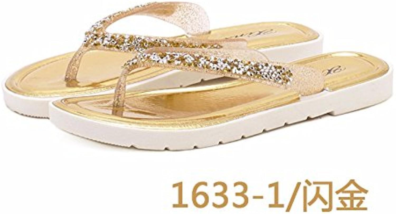 Verano Flipflops damas moda zapatillas mujeres versión coreana de la Plana calzado tienen pies fría sacar las...