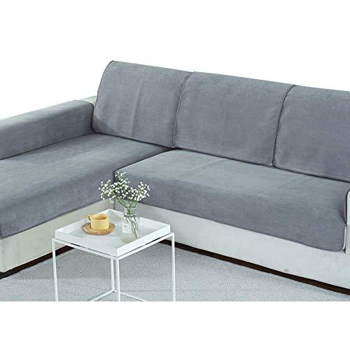 Zhongxin 1pcs animali domestici anti-urine copridivano, impermeabile copertura divano kids antiscivolo copri divano divani anti-macchia velluto, grigio