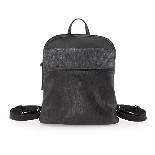 Tamaris Damen Khema Backpack Rucksackhandtasche, Schwarz (Black Comb.), 8,5x31x27 cm