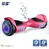 Hoverboards Patinete Eléctrico de 6.5' Pulgadas-Scooter con LED, y Bluetooth (Rosa)