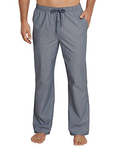 Schiesser Herren Schlafanzughose Mix & Relax Hose Lang Blau (Jeansblau 816), X-Large (Herstellergröße:054)