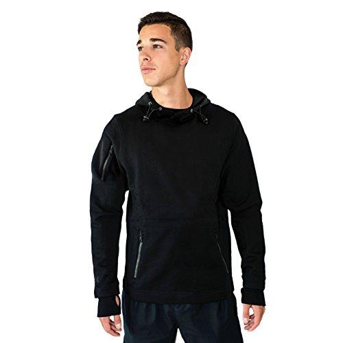 Woolx Men's Merino Wool Pull Over Sweatshirt - Wool Hoodie - WARMEST HOODIE