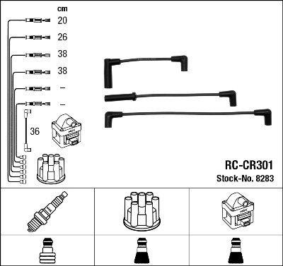 NGK - FAISCEAU HT - RC-CR301