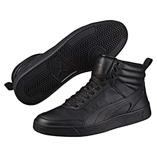 Puma Rebound Street v2 Leder High-Tops Black Black 9.5