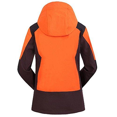 Le Printemps Des Femmes De Veste En Plein Air Avec Capuche Orange