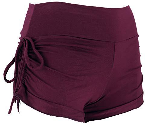 Guru-Shop Goa Pantys, Psytrance Hotpants, Bikini Shorts, Damen, Plum, Synthetisch, Size:S/M (36), Shorts, 3/4 Hosen, Leggings Alternative Bekleidung