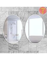 Art Street Bathroom Mirrors Wall Mounted, Modern Frameless Mirror for Bathroom, Bedroom, Living Room Hanging Horizontal or Vertical