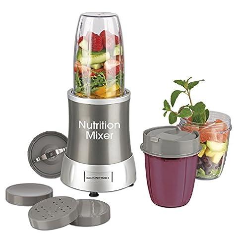 GOURMETmaxx 04505 Nutrition Mixer | inkl. Rezeptheft & To-Go Becher