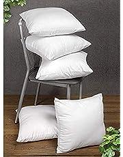 JDX White Color Hotel Cushion 16''X16'' (40X40cms, White) - Set of 5