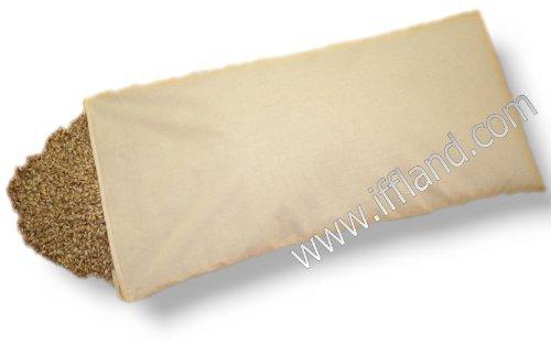 Preisvergleich Produktbild Bio Dinkelkissen mit Reißverschluß - Dinkelkopfkissen Dinkelspelzkissen Dinkelspreukissen mit Bio Dinkelspreu Dinkelspelz befüllt Größe 40 x 80cm